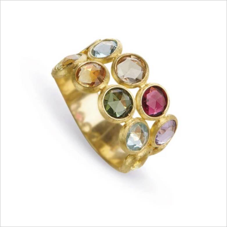 Marco Bicego 18k Yellow Gold Mixed Gemstone Ring