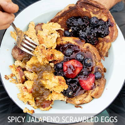 The Nut House Spicy Jalapeno Scrambled Eggs Recipe