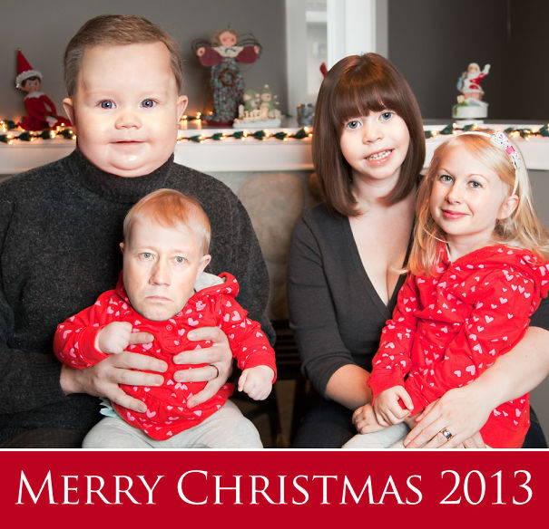 Face Swap Christmas Card