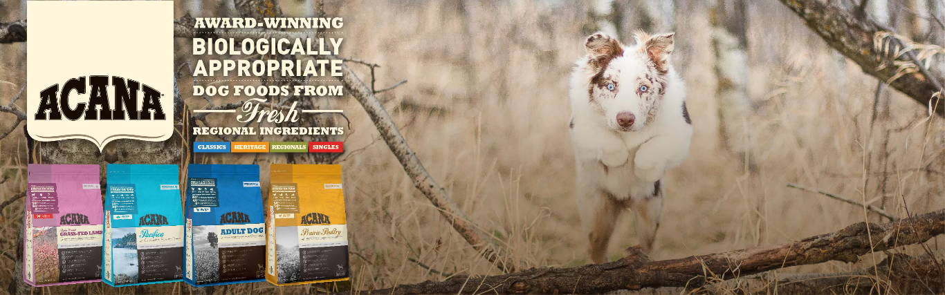 acana dog and cat food collection at pawpy kisses online pet shop .
