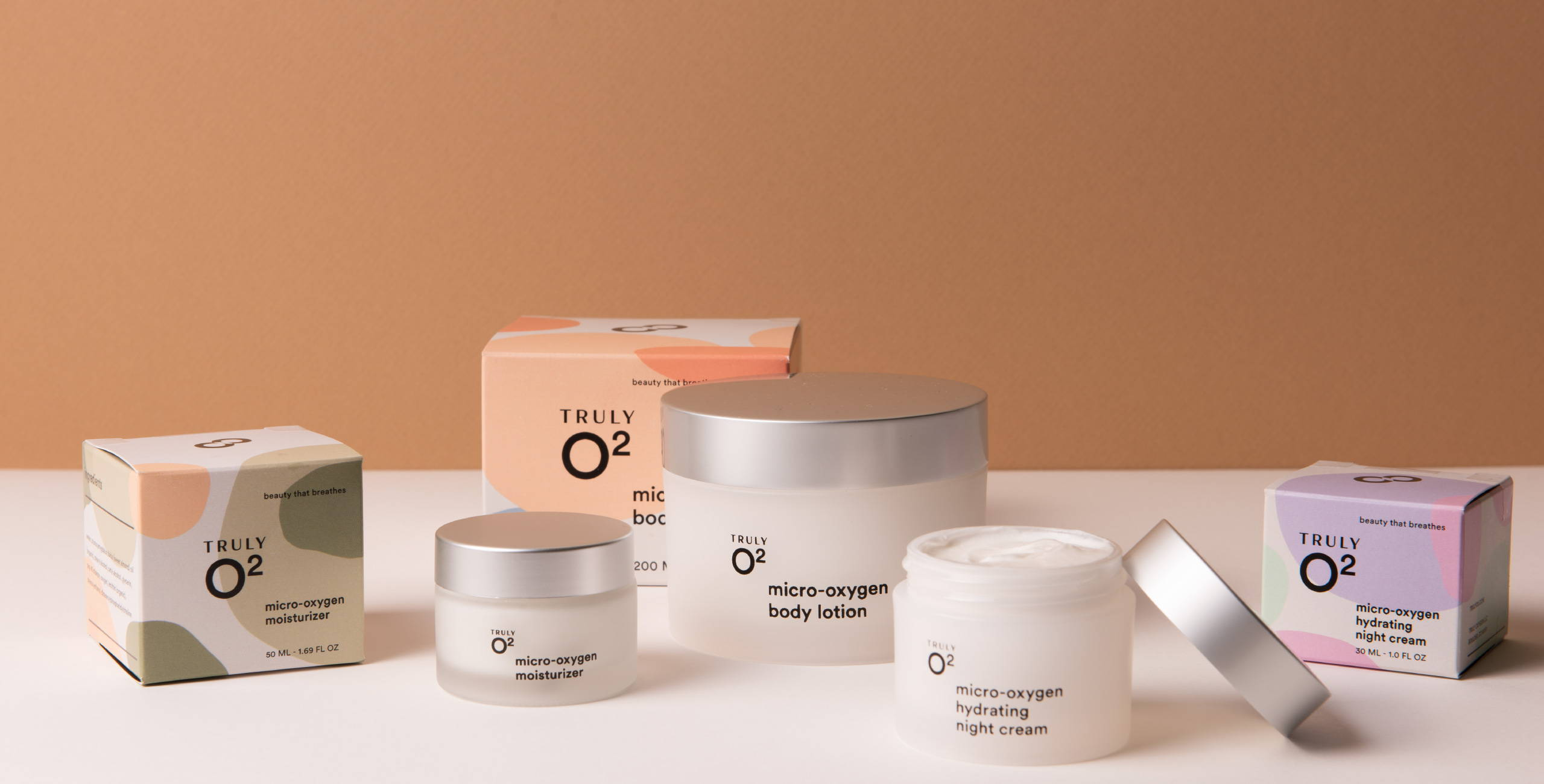 Truly O2 micro oxygen moisturizer product line vertical