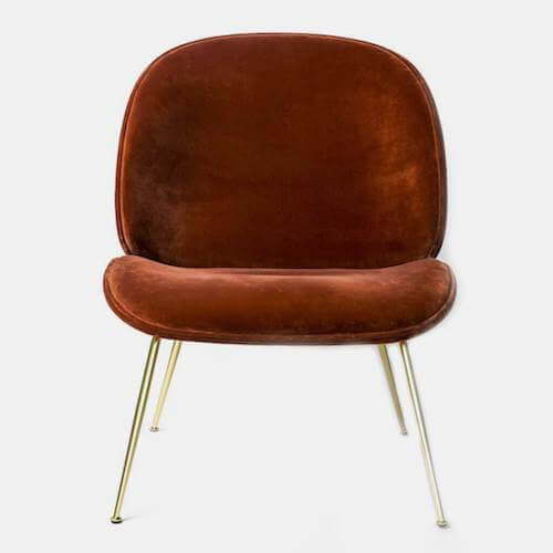 GUBI Beetle Velvet Lounge Chair