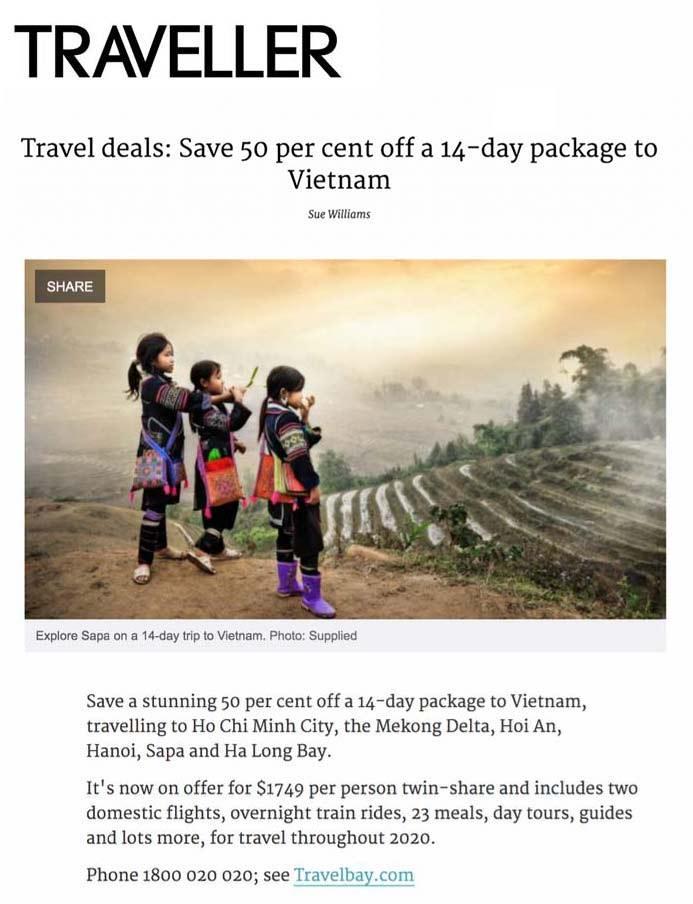 Travelbay in the Media - Traveller - Vietnam Tours 14 Day