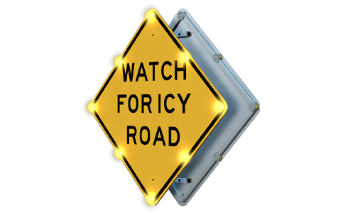 Double-sided-icy-road-warning-alert