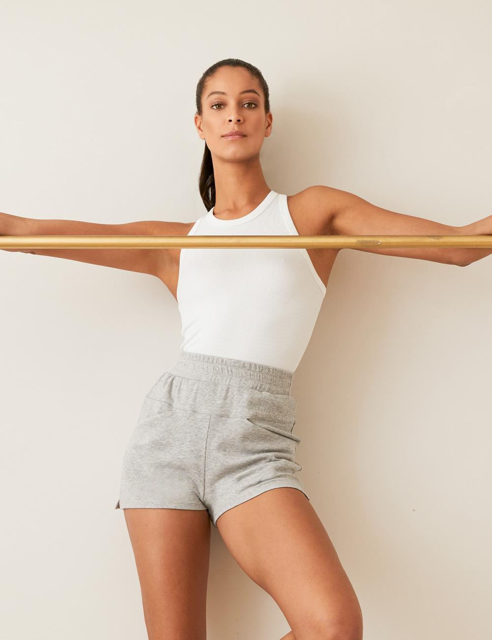 Shop New Arrivals. Featuring our Ribbed Seamless Tank in white.