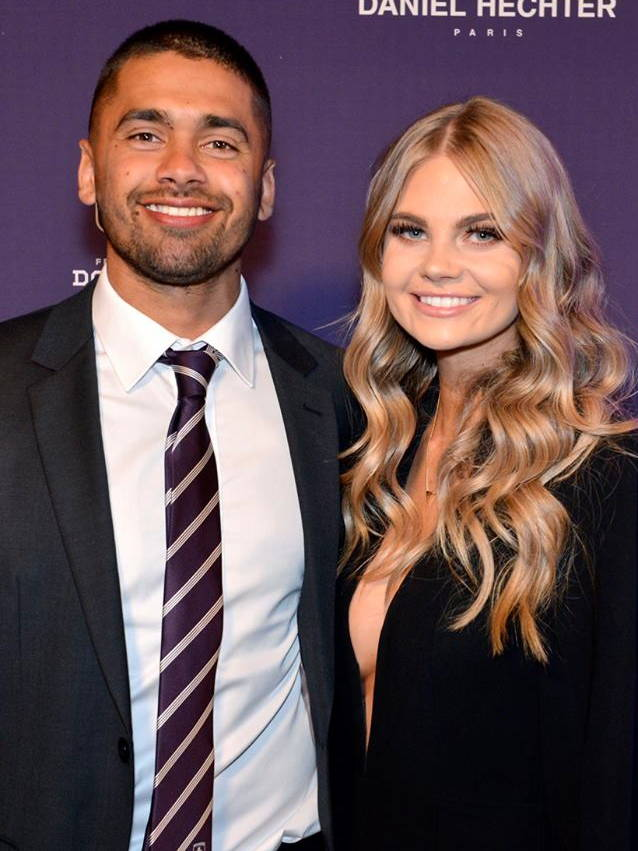 Footballer Brad Hill wearing Daniel Hechter at the Fremantle Dockers Gala in Perth