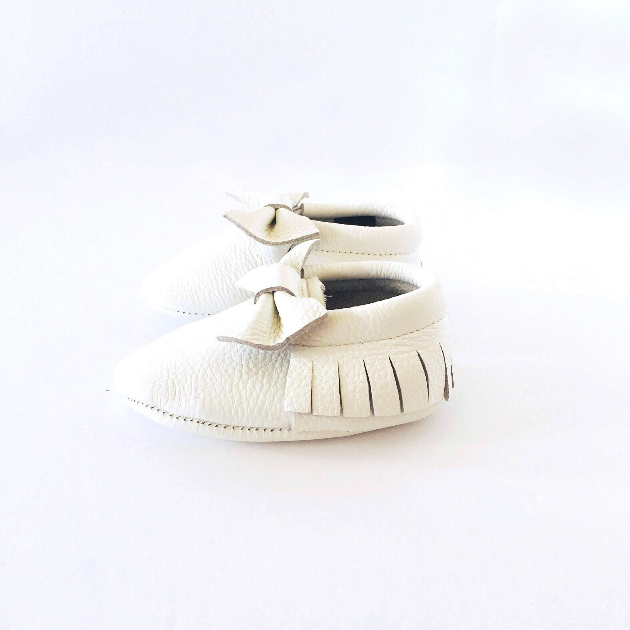 Bow Baby Soft Sole Shoe White Colour sole view