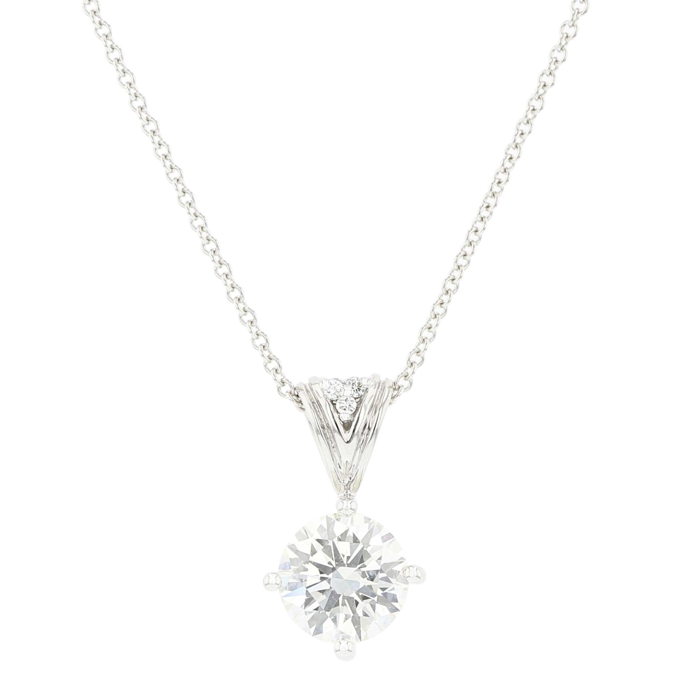 Fire and Ice Diamond Pendant