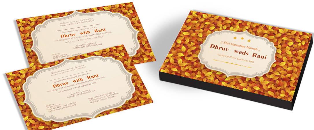 Fall Style Wedding Invitations