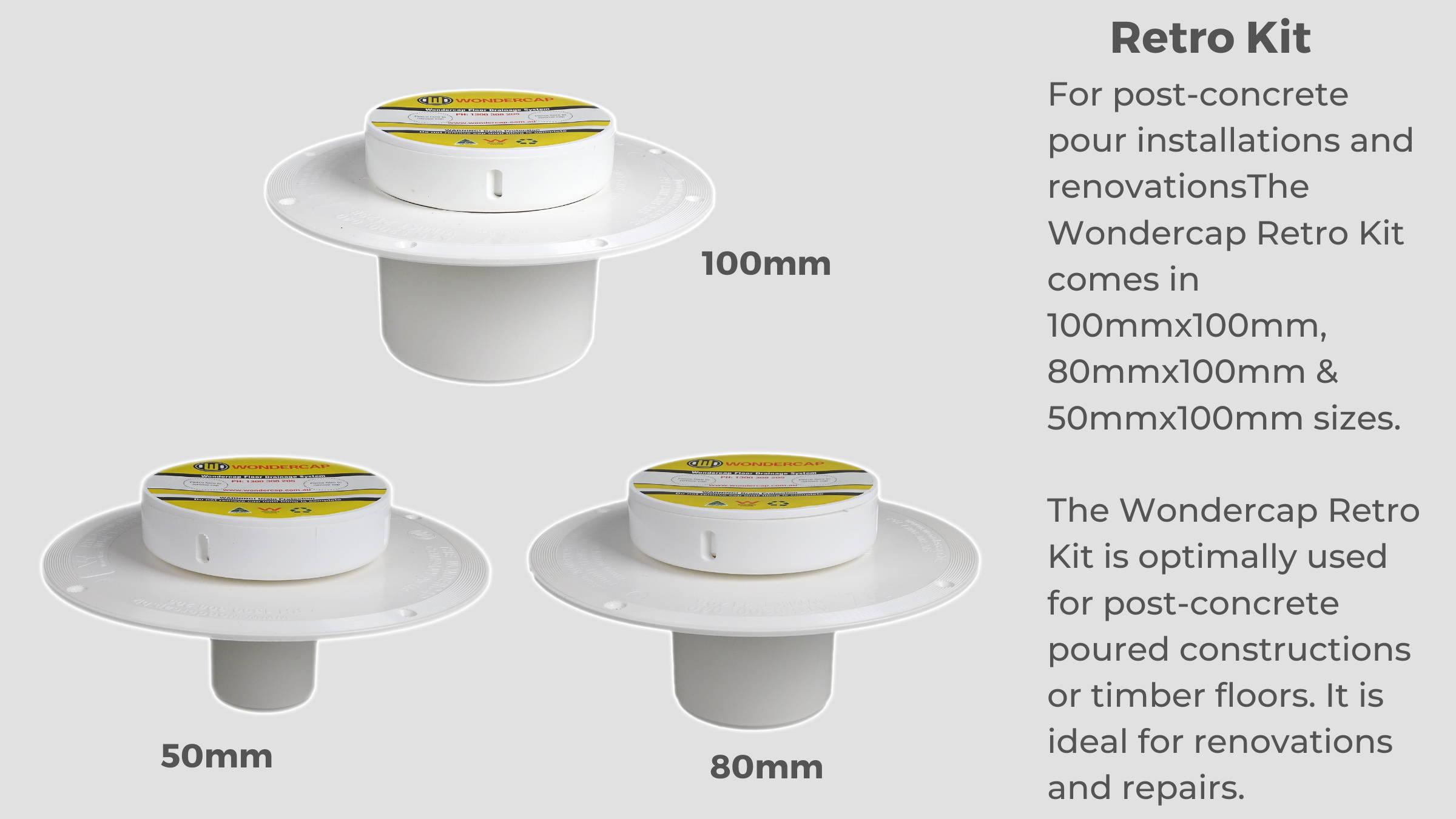Wondercap Retro Puddle Flange Kit