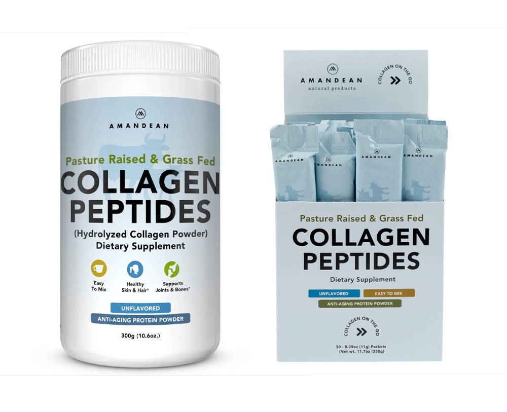 Grass-Fed Collagen Peptides For Skin, Hair, Joints, Bones, and Digestion.