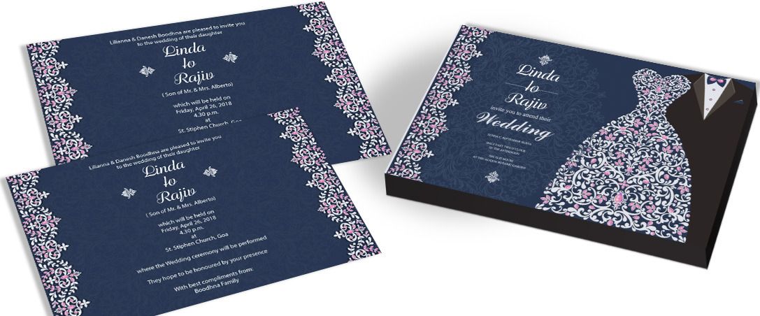 Flourish Charm Wedding Invites for Christian
