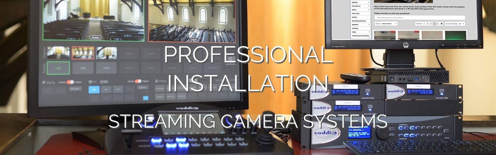 Professional installation of cameras sound systems emi audio