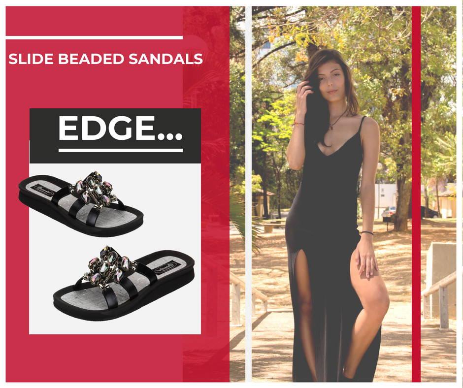Slide Beaded Sandals - For  Minimalist Fashion