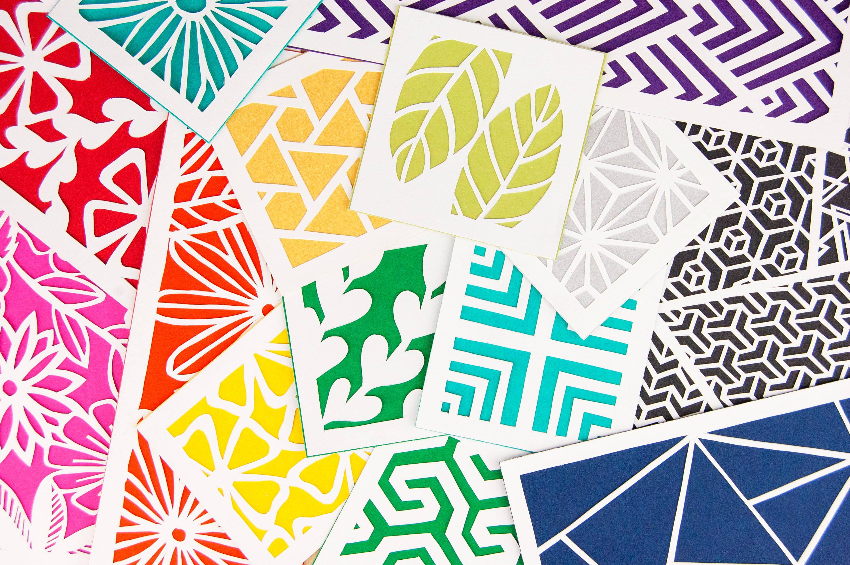 Rainbow Paper Cutting Kit by Alisa Blundon