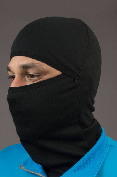 merino wool balaclava model front