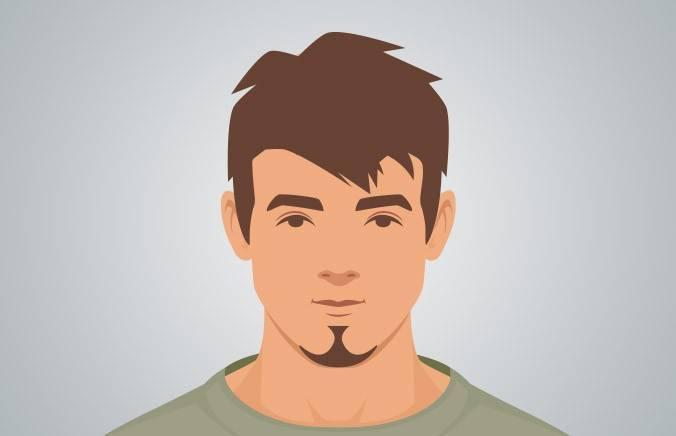 PETITE GOATEE - A small beard that elongates the chin