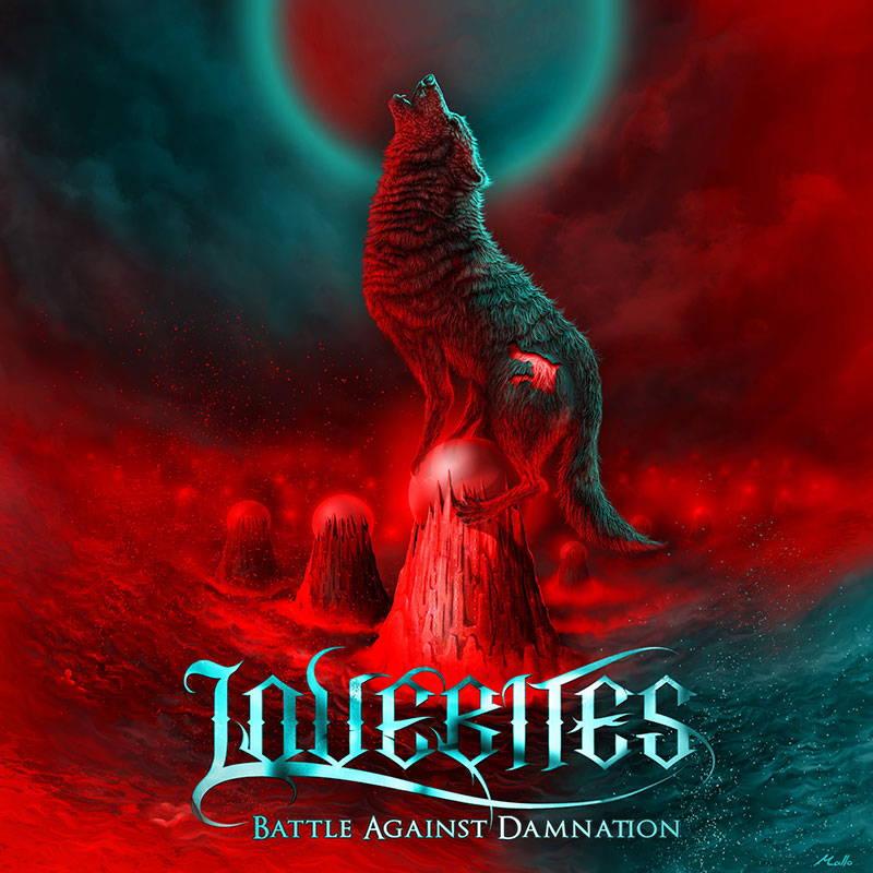 LOVEBITES Battle Against Damnation album cover art