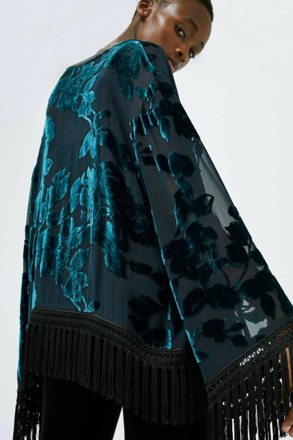 Galvan London Velvet Devoré Floral Cover-Up
