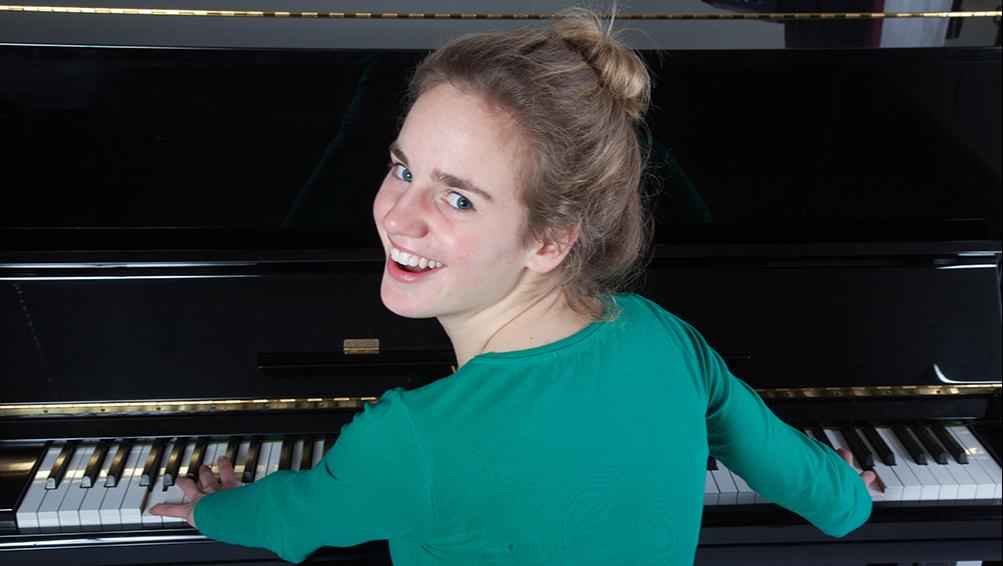 Piano Teacher being creative