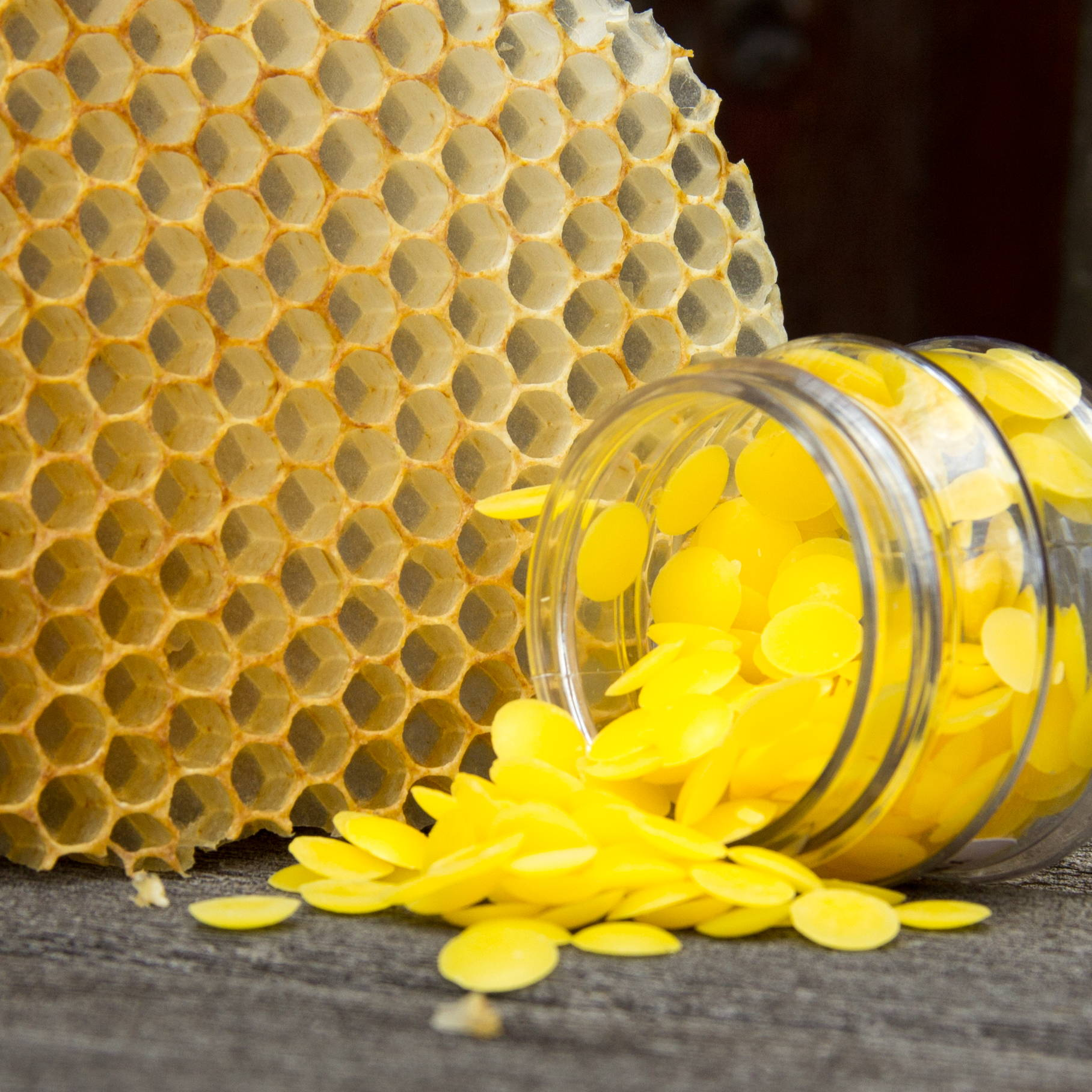 Beeswax pallets and comb