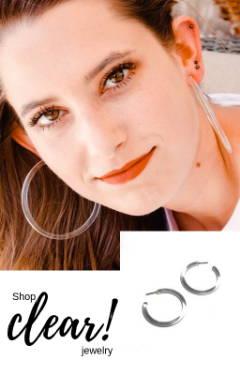 clear acrylic hoop earrings