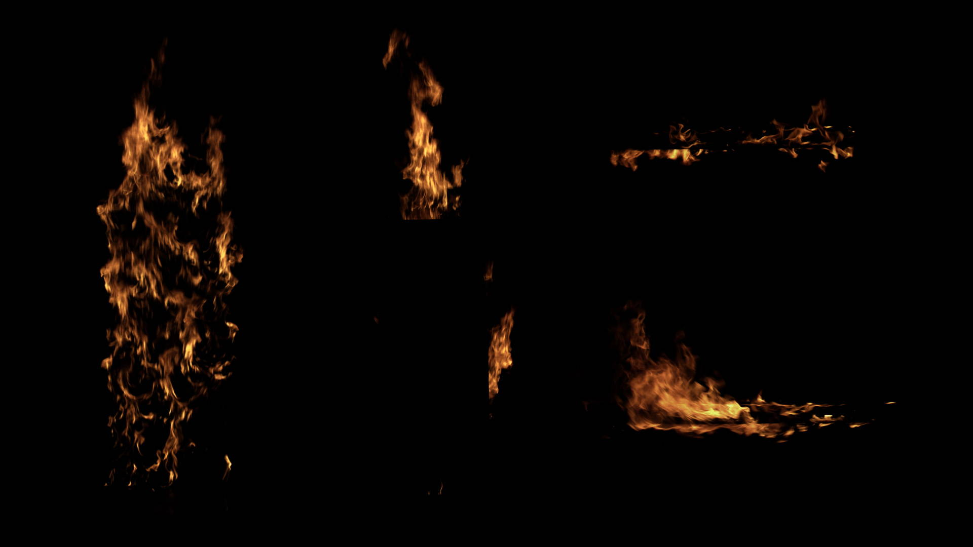 Structure Fire for VFX including Walls & Ceiling Fire elements