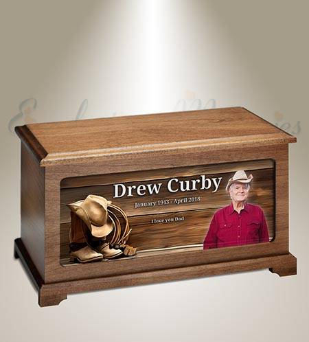 Cowboy Burial Urn For Picture