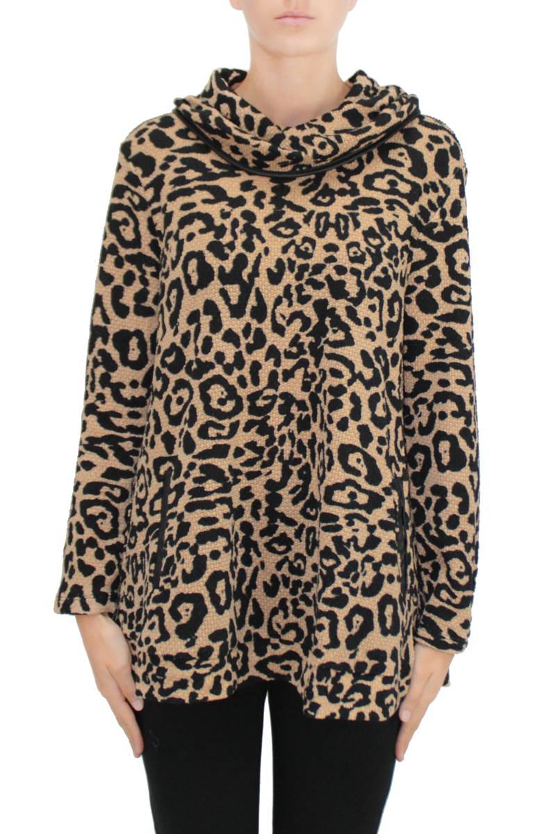 Cowl Knit - Leopard