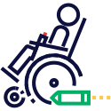 accessibility wheelchair on rocket