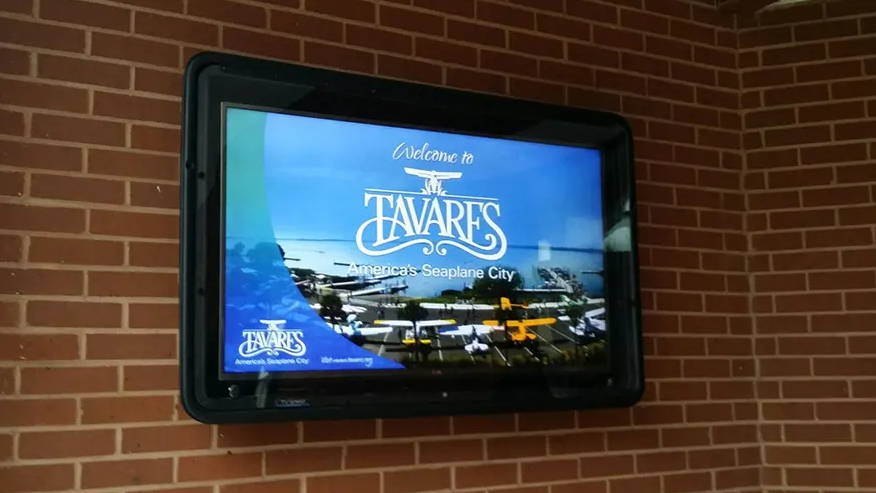 City of Tavares outdoor TV box for visitor information