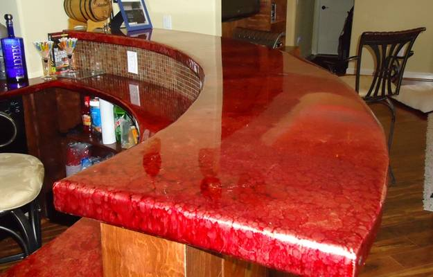 Man Cave Bar Top Epoxy from UltraClear Epoxy