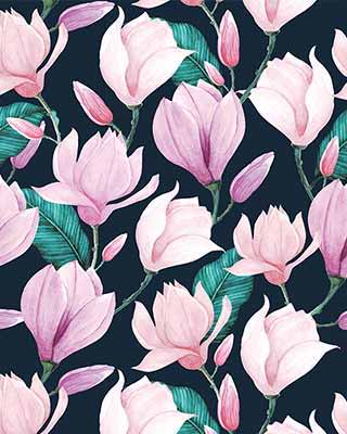 pink flower pop art background