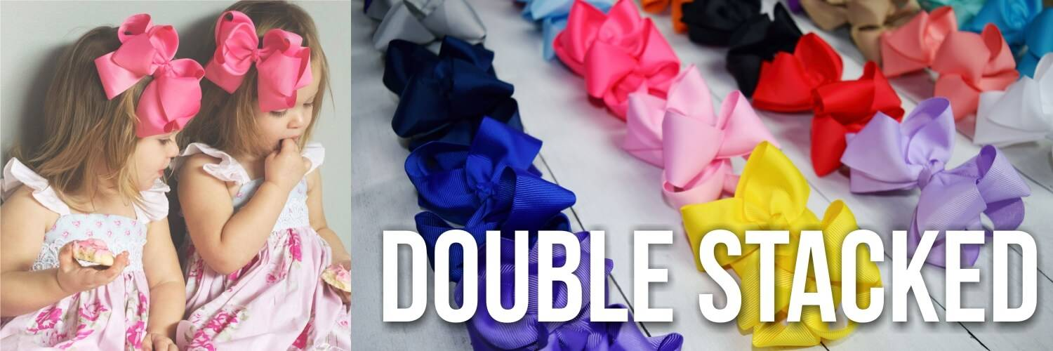 Double Stacked Hair Bow