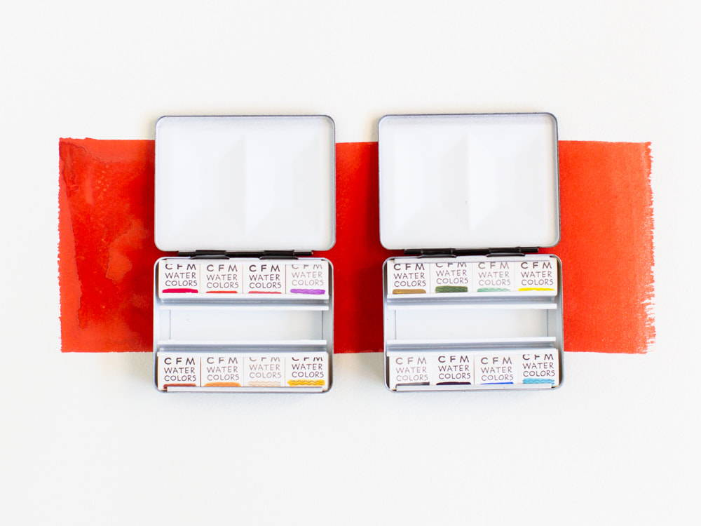 Travel watercolor sets by Case for Making