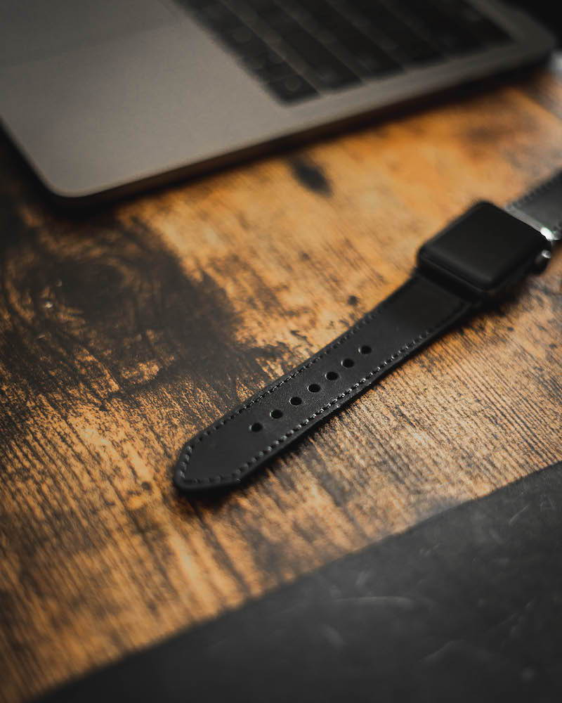 horween black apple watch strap