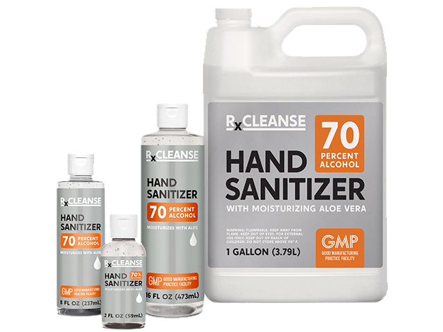 Antibacterial Hand Sanitizer in all sizes