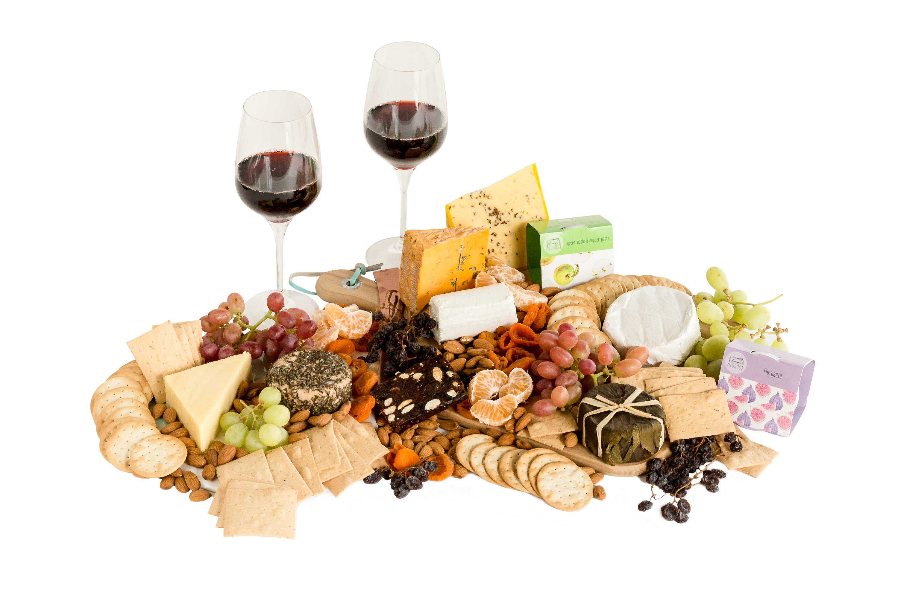 Large Australian wine and cheese platter