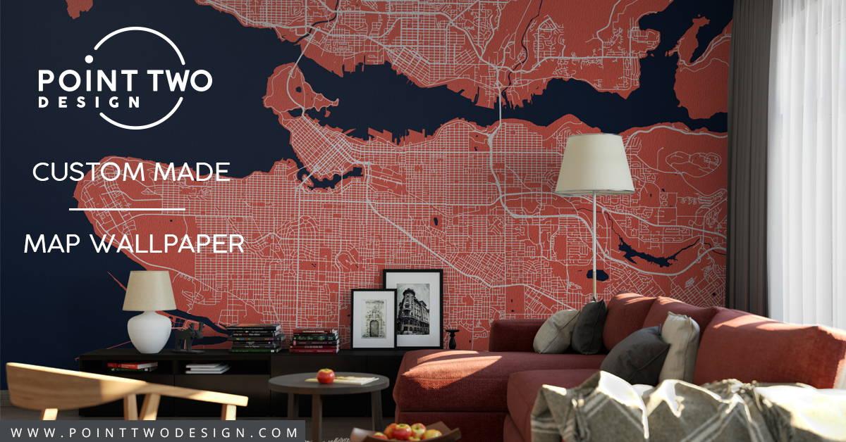 Map Wall Art Wall Murals - Custom Home Wall Decor - Point ...