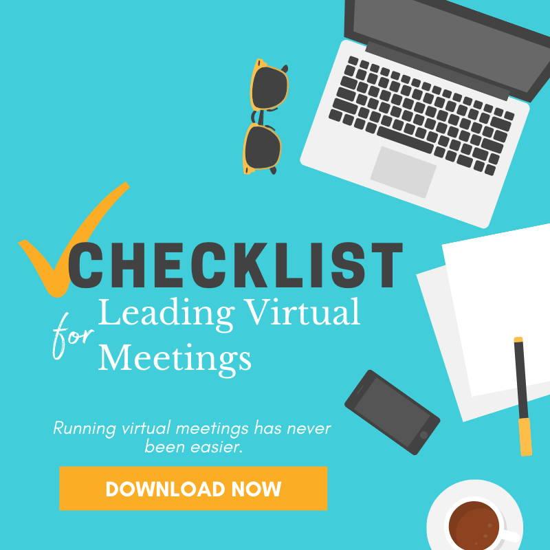 checklist for leading virtual team meetings
