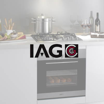 IAG appliances used in our flat pack kitchens, The Blue Space