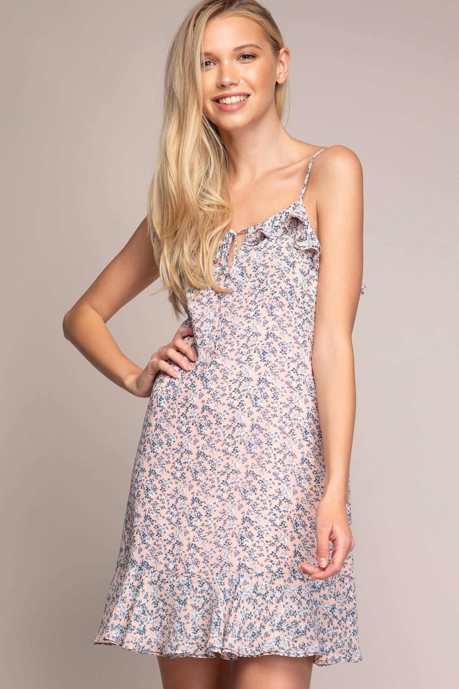 Model in Brielle Floral Dress