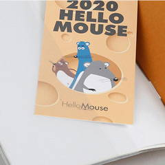 Pocket - Chachap 2020 Hello mouse dated monthly planner scheduler