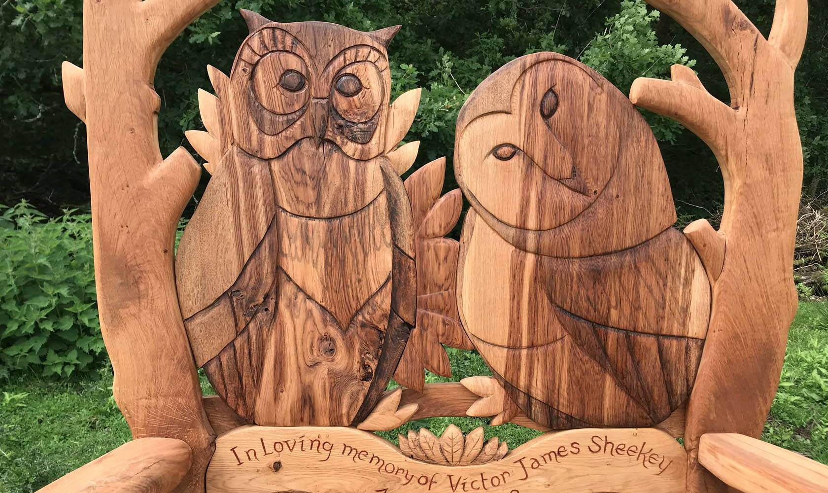 owl storytelling bench