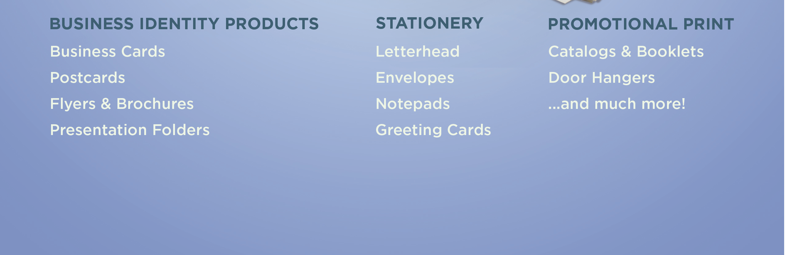 Business Identity Products