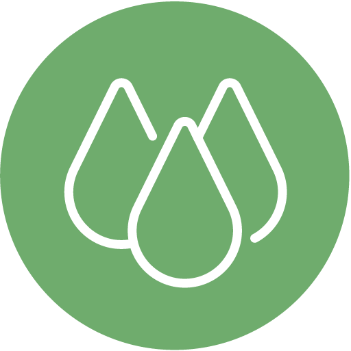 Green Water Drops Icon