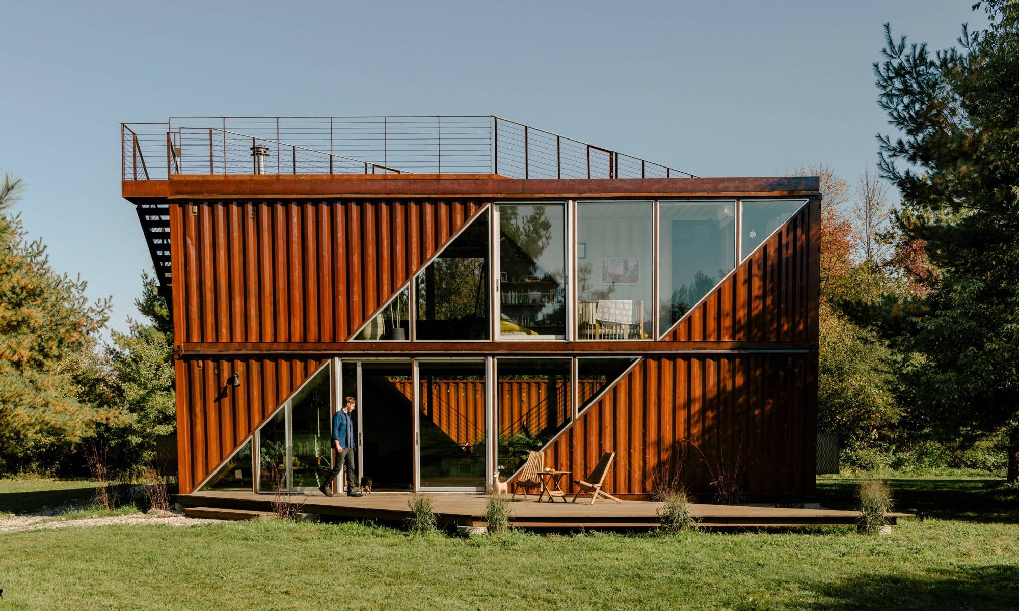 Container home in hudson, ny.