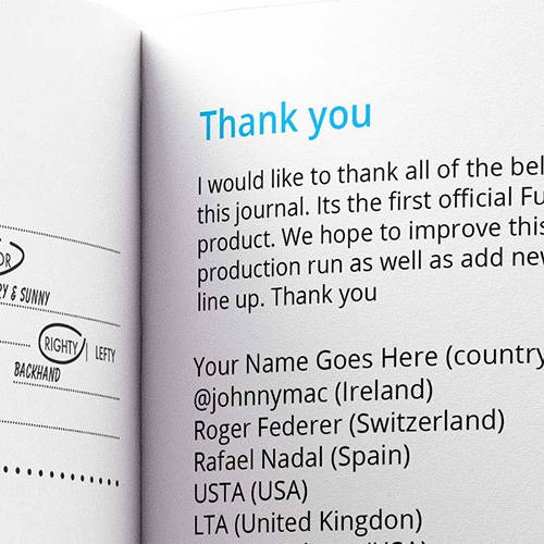 Get your name printed in the thank you page when you pre order