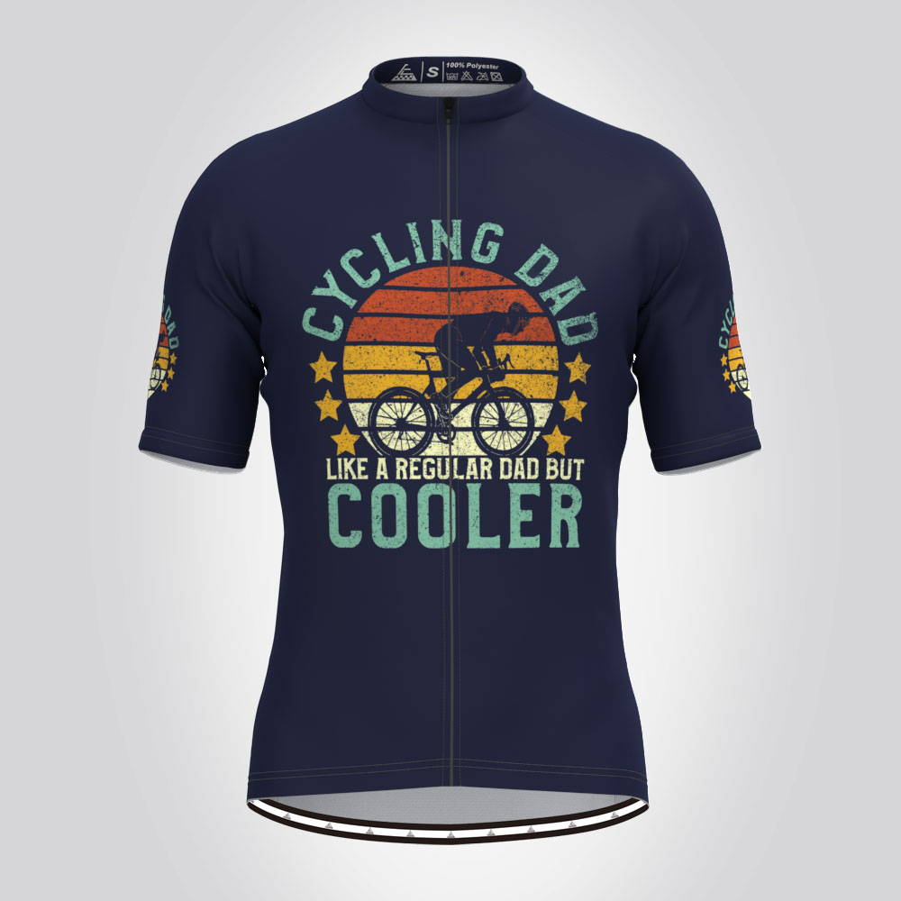 Cycling Dad Jersey Blue