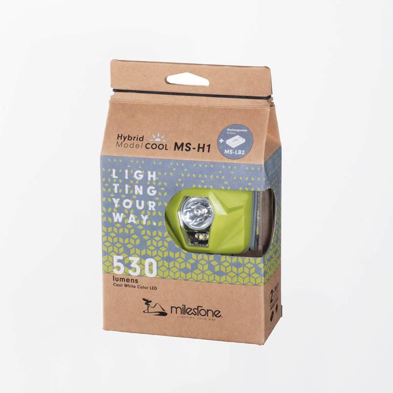 milestone(マイルストーン)/MS-H1 ハイブリッドモデル クール/ライトグリーン/UNISEX